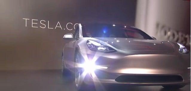 Equipamiento del Tesla Model 3